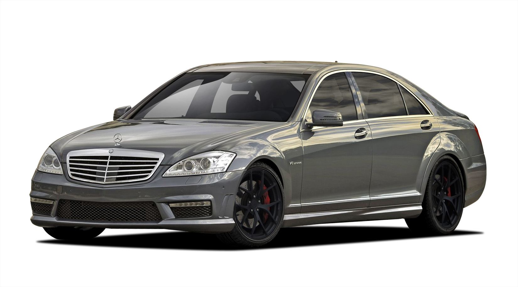 Polypropylene Body Kit Bodykit for 2013 Mercedes S Class ALL - Mercedes S Class W221 Vaero S63 Look Kit ( with PDC ) - 4 Piece - Includes S63 Look Fro