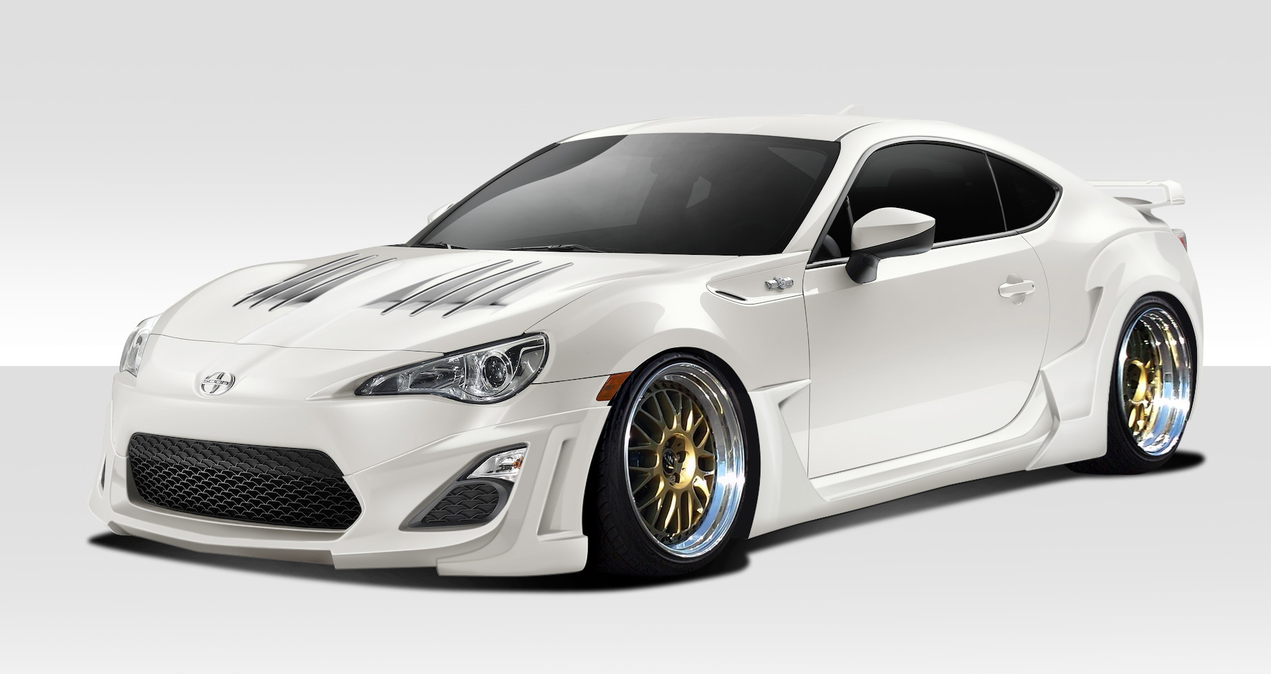 14 16 scion frs w 1 duraflex 8 pcs full body kit 109994. Black Bedroom Furniture Sets. Home Design Ideas
