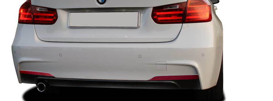2016 BMW 3 Series ALL - Polypropylene Rear Bumper Bodykit - BMW 3 Series 320i F30 Vaero M Sport Look Rear Bumper Cover ( with PDC ) - 2 Piece