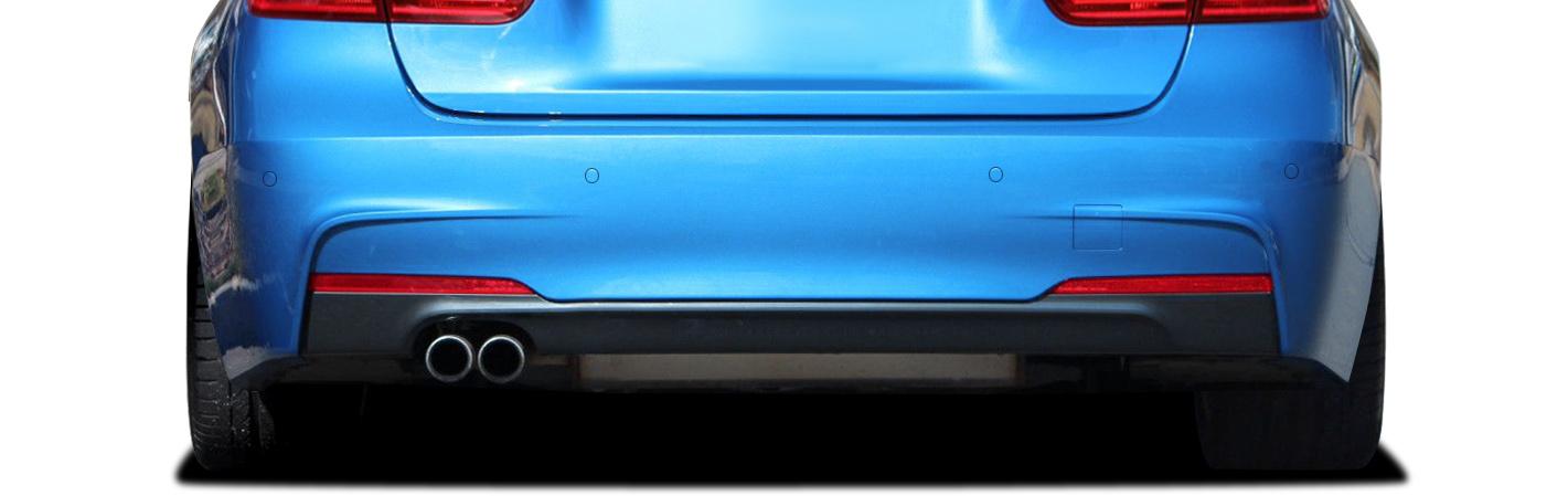 2015 BMW 3 Series ALL - Polypropylene Rear Bumper Bodykit - BMW 3 Series 328i F30 Vaero M Sport Look Rear Bumper Cover ( with PDC ) - 2 Piece