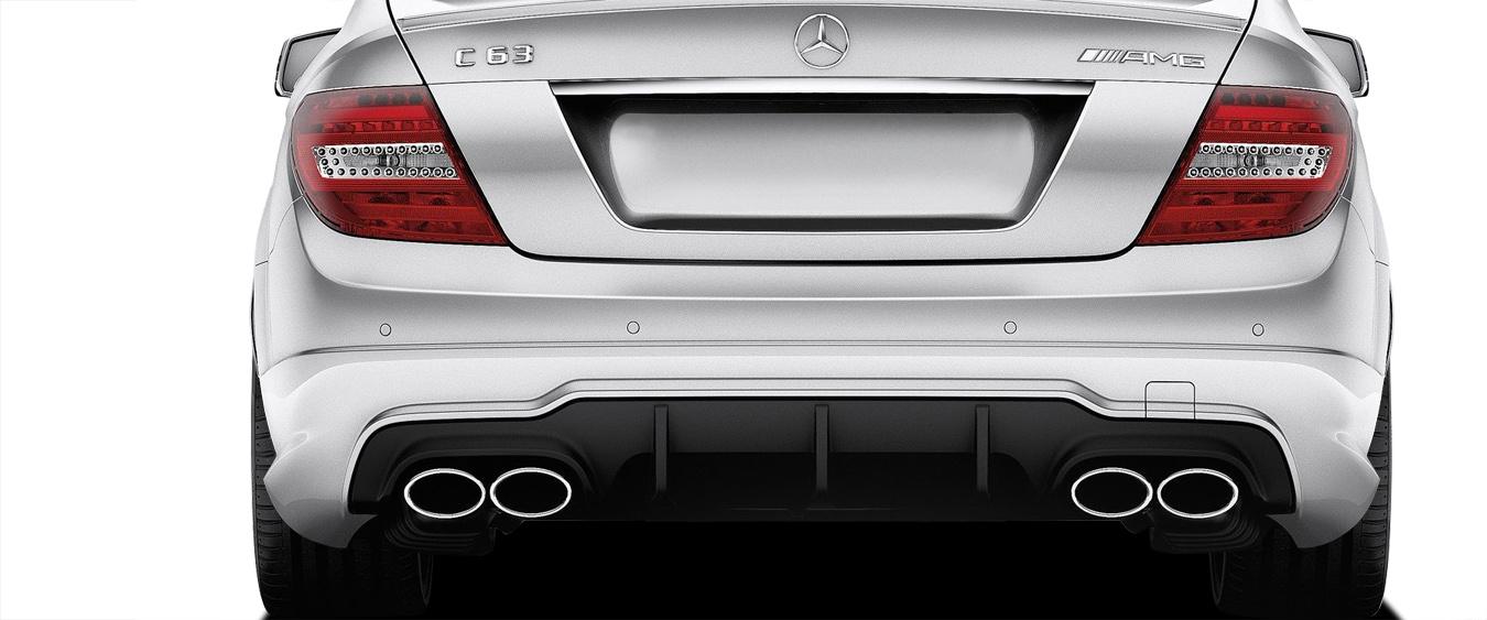 2014 Mercedes C Class ALL - Polypropylene Rear Bumper Bodykit - Mercedes C Class C63 W204 Vaero C63 V2 Look Rear Bumper Cover ( with PDC ) - 2 Piece