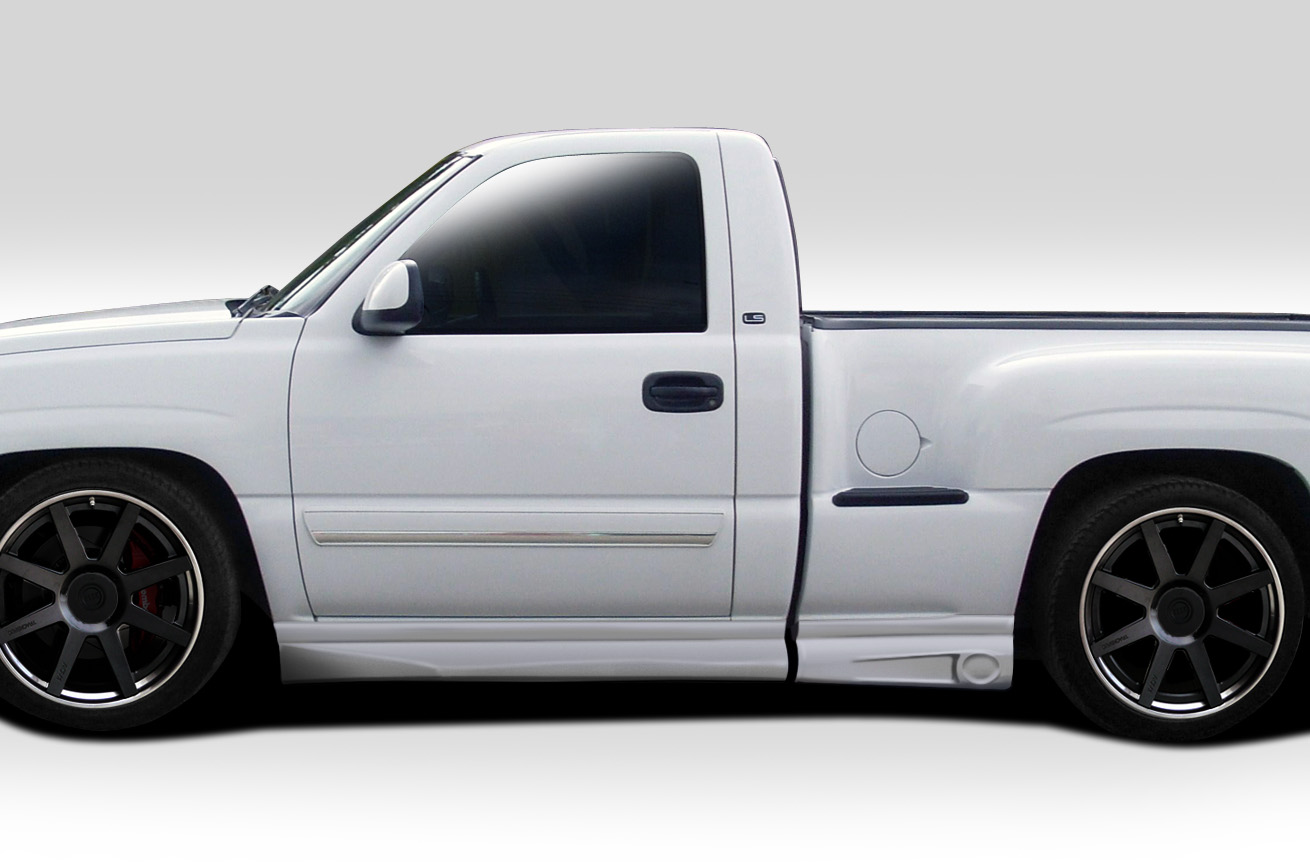 2004 chevrolet silverado fiberglass sideskirts body kit. Black Bedroom Furniture Sets. Home Design Ideas