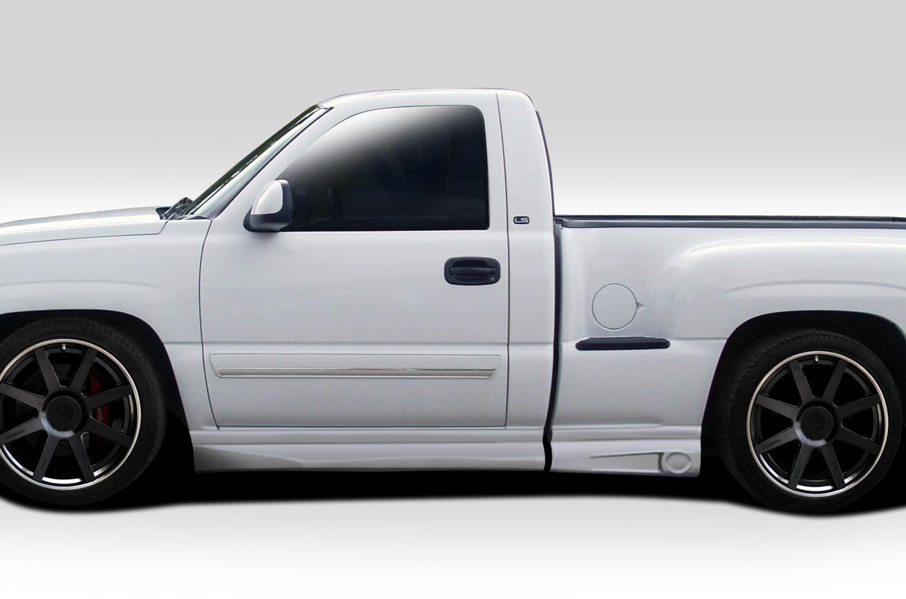 1999 Chevrolet Silverado 1500 Regular Cab >> 99-06 Chevy Silverado Reg. Cab Fleet Stepside Duraflex BT-1 Side Skirt Body Kit | eBay