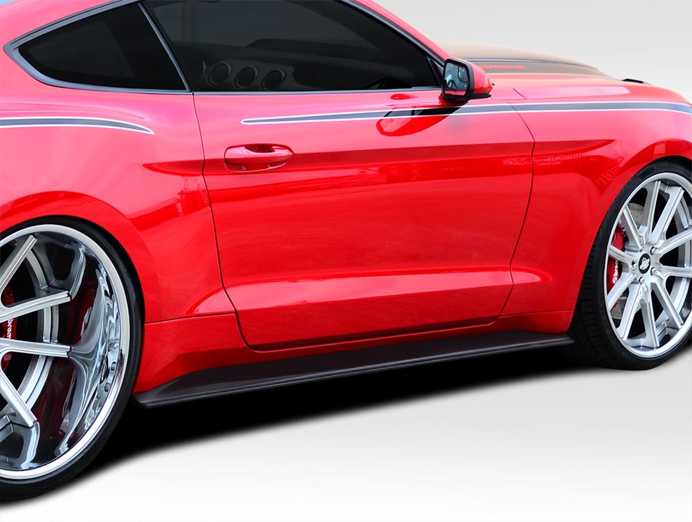 Ford Mustang Duraflex Gt Concept Side Skirt Splitters  Piece Body Kit Ebay