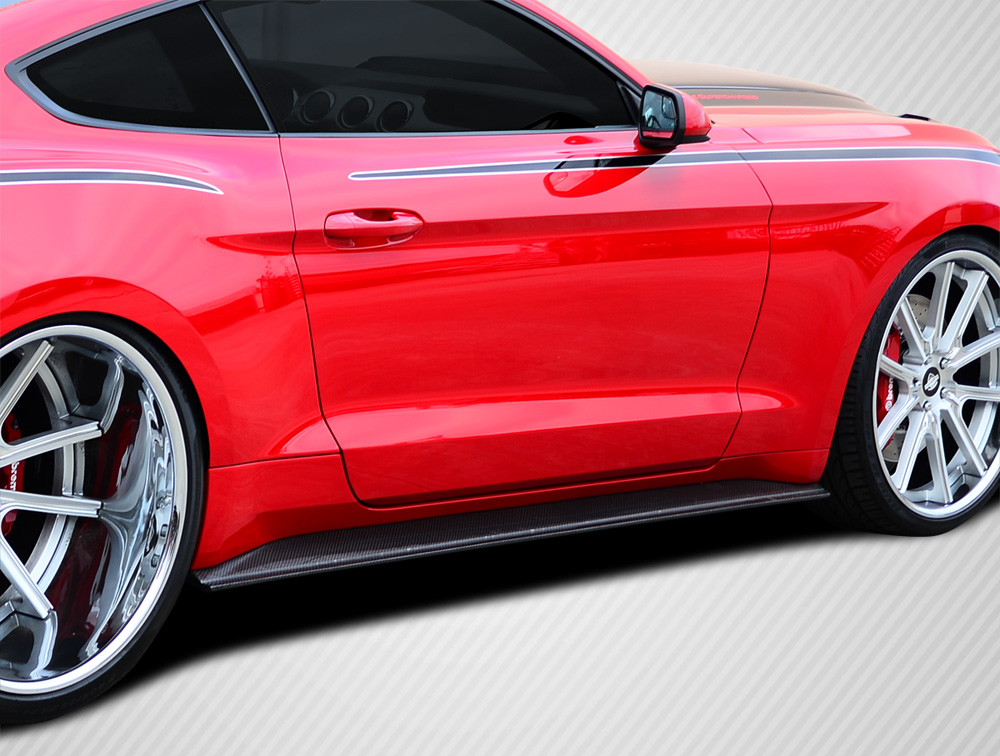 Details About   Ford Mustang Gt Concept Carbon Fiber Creations Side Skirts Body Kit