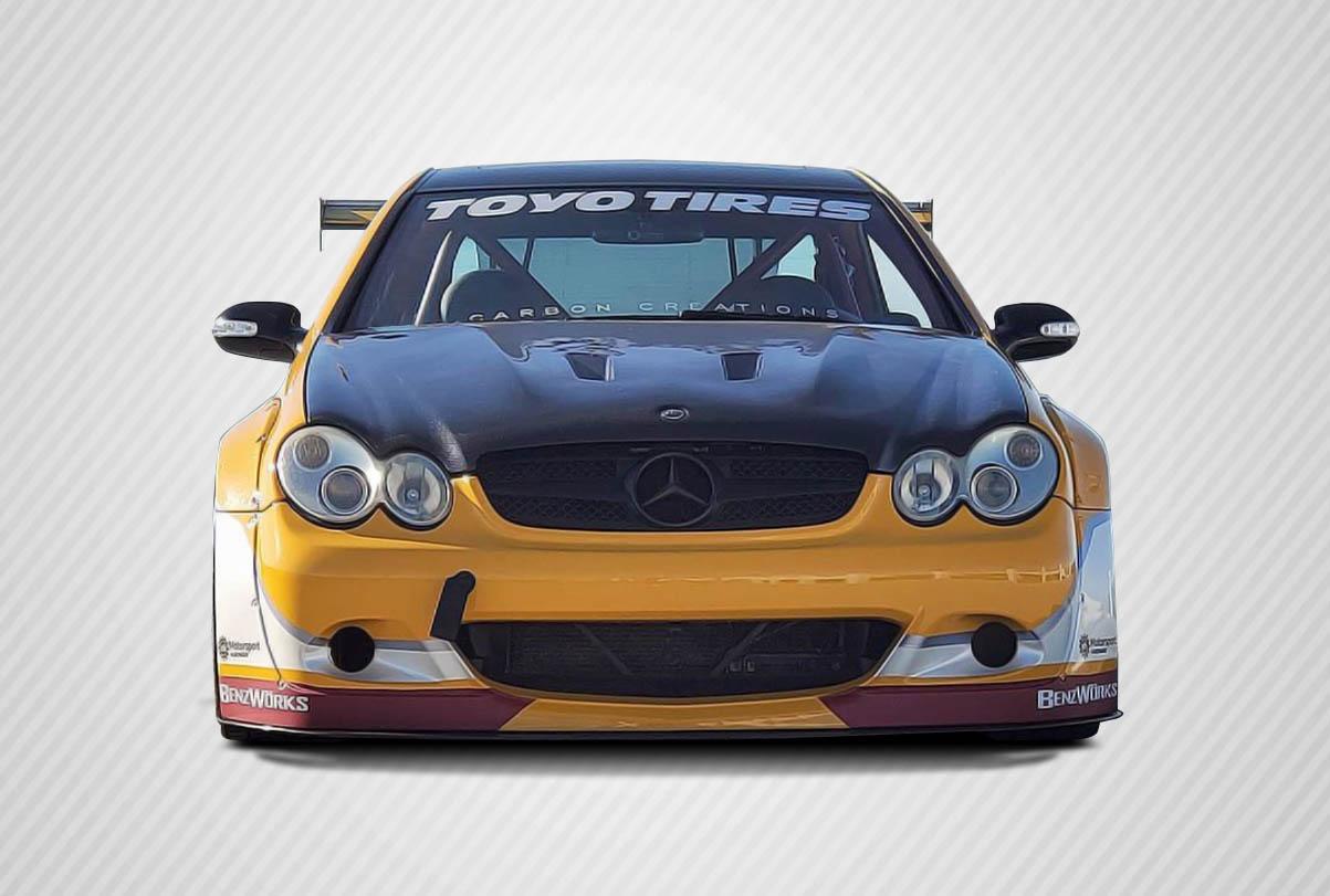 03 09 mercedes clk black series look carbon fiber body kit for Mercedes benz clk black series body kit