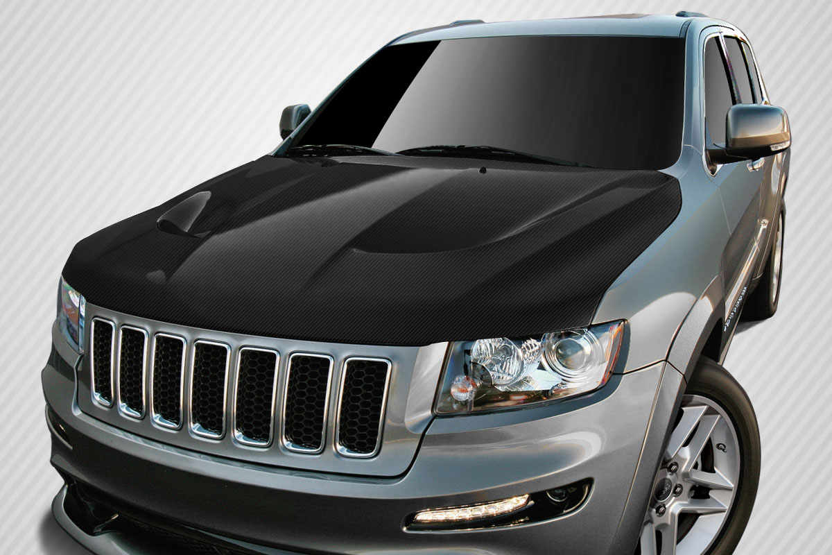 Welcome To Extreme Dimensions :: Inventory Item :: 2011 2018 Jeep Grand  Cherokee Carbon Creations SRT8 Look Hood   1 Piece