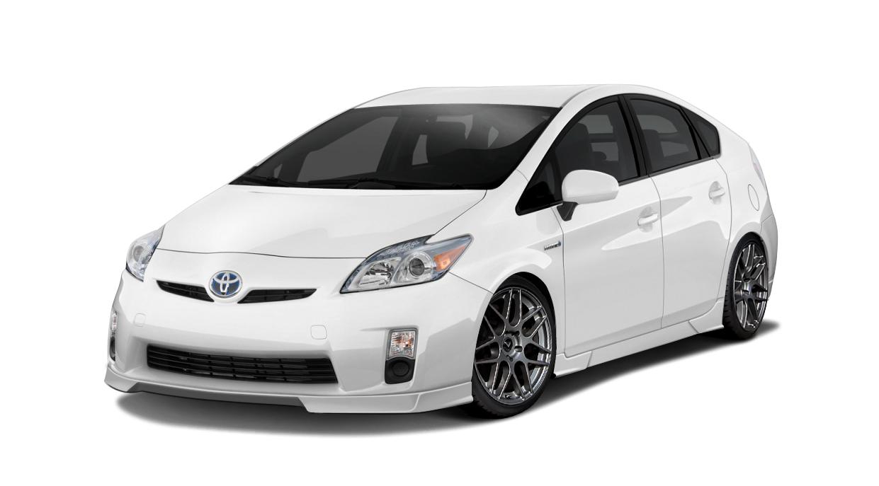 2011 Toyota Prius  - Polyurethane Body Kit Bodykit - Toyota Prius Couture Vortex Body Kit - 8 Piece - Includes Vortex Front Lip (112372), Vortex Side