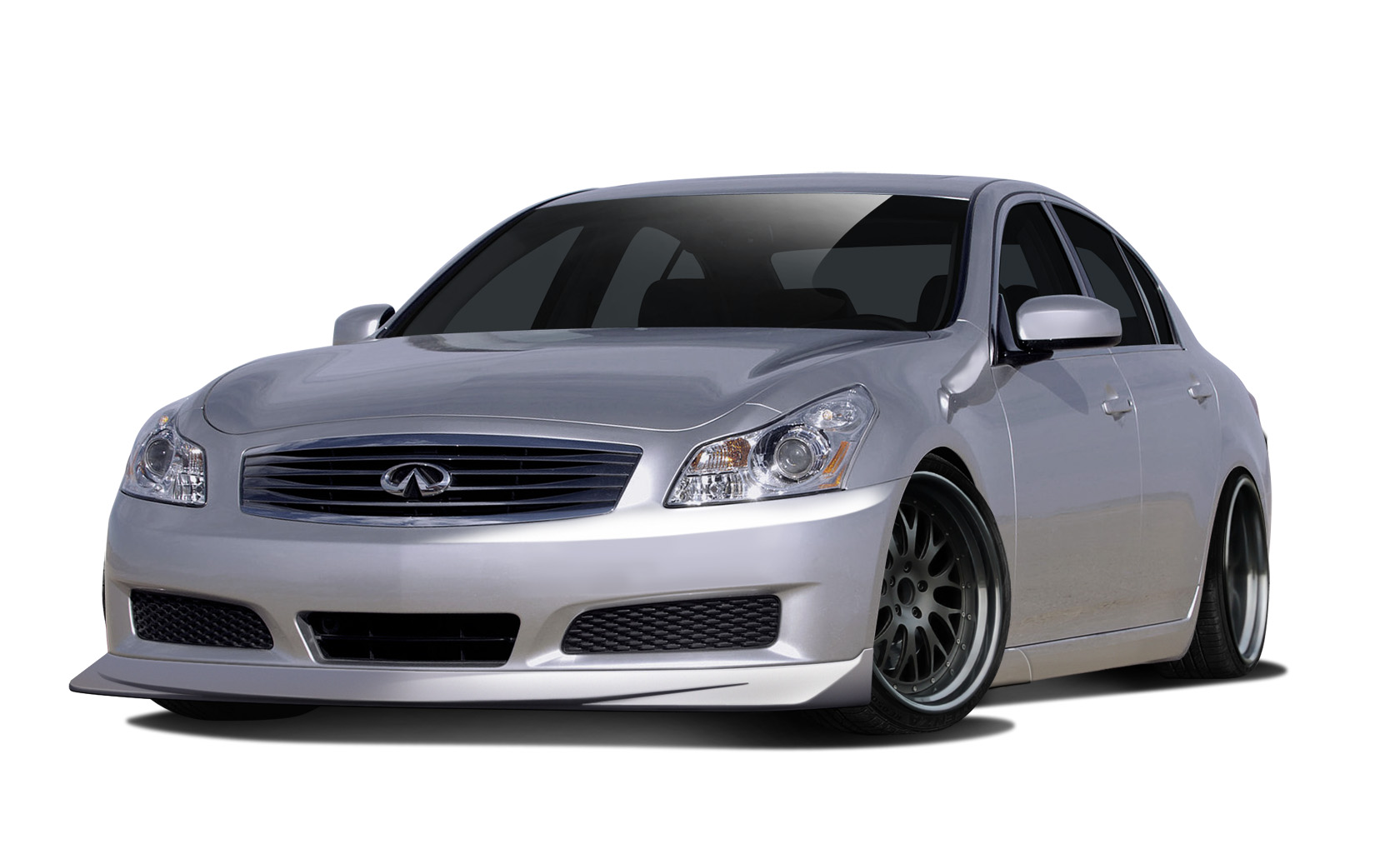 2010 Infiniti G Sedan  - Polypropylene Body Kit Bodykit - Infiniti G Sedan Couture Vortex Body Kit - 5 Piece - Includes Vortex Front Lip (112381), Vor