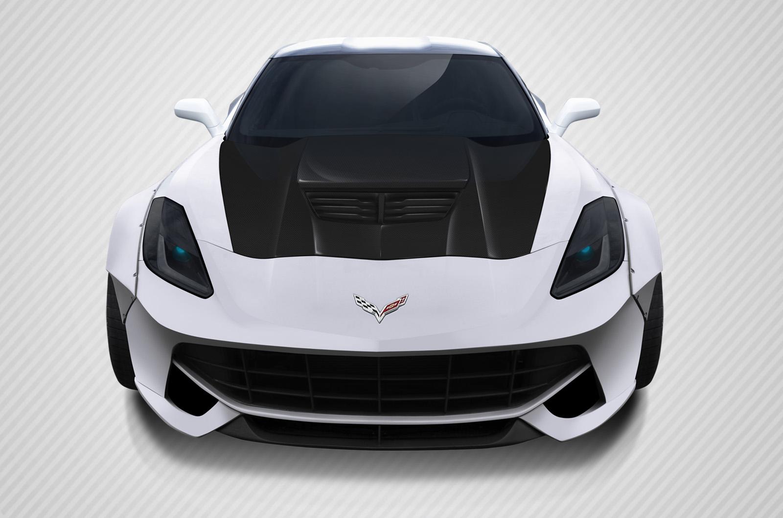 2016 Chevrolet Corvette ALL - Carbon Fiber Fibre Hood Bodykit - Chevrolet Corvette Carbon Creations Z06 Look Hood- 1 Piece