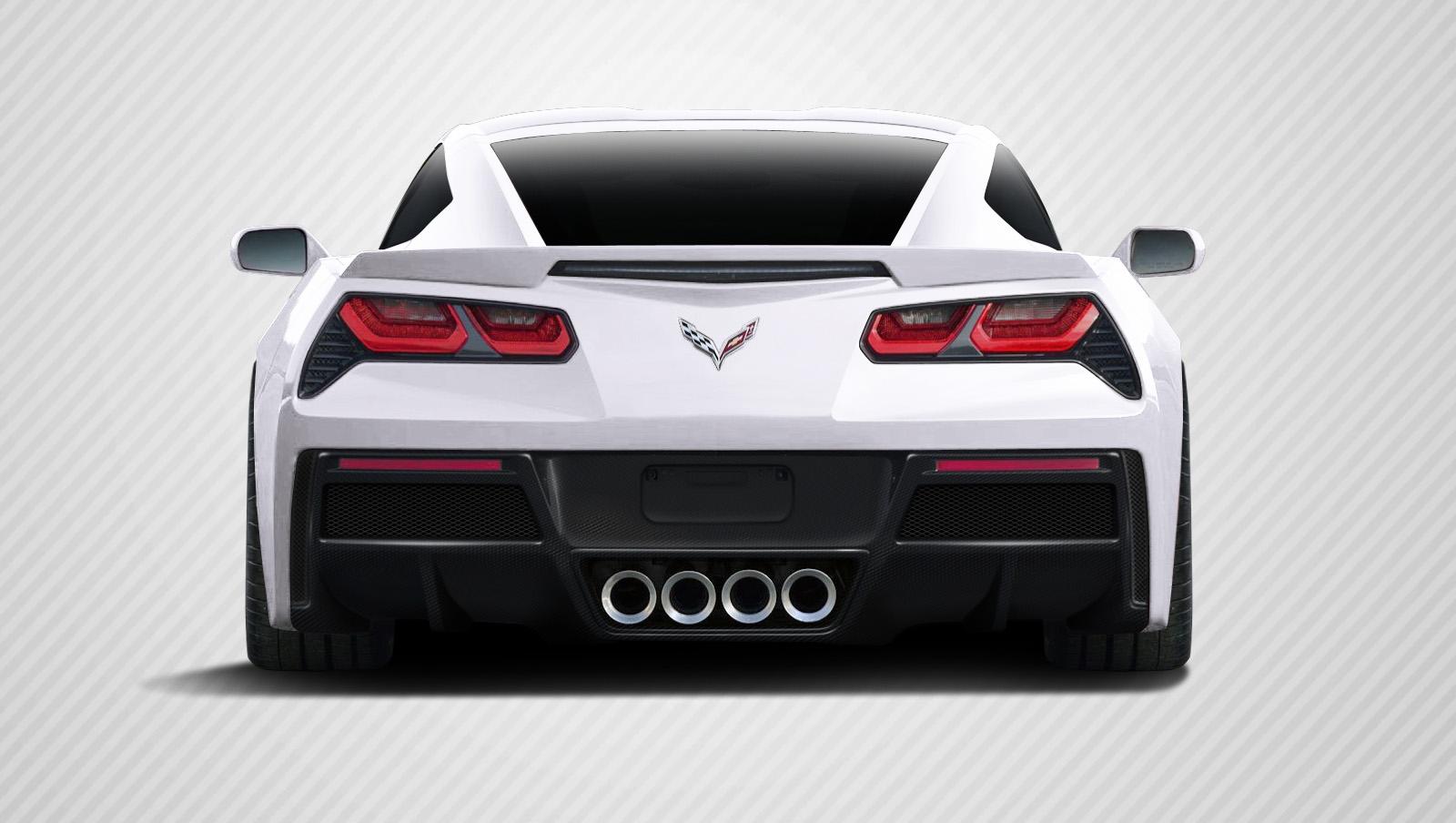 2016 Chevrolet Corvette ALL - Carbon Fiber Fibre Rear Lip/Add On Bodykit - Chevrolet Corvette C7 Carbon Creations Gran Veloce Rear Diffuser- 1 Piece