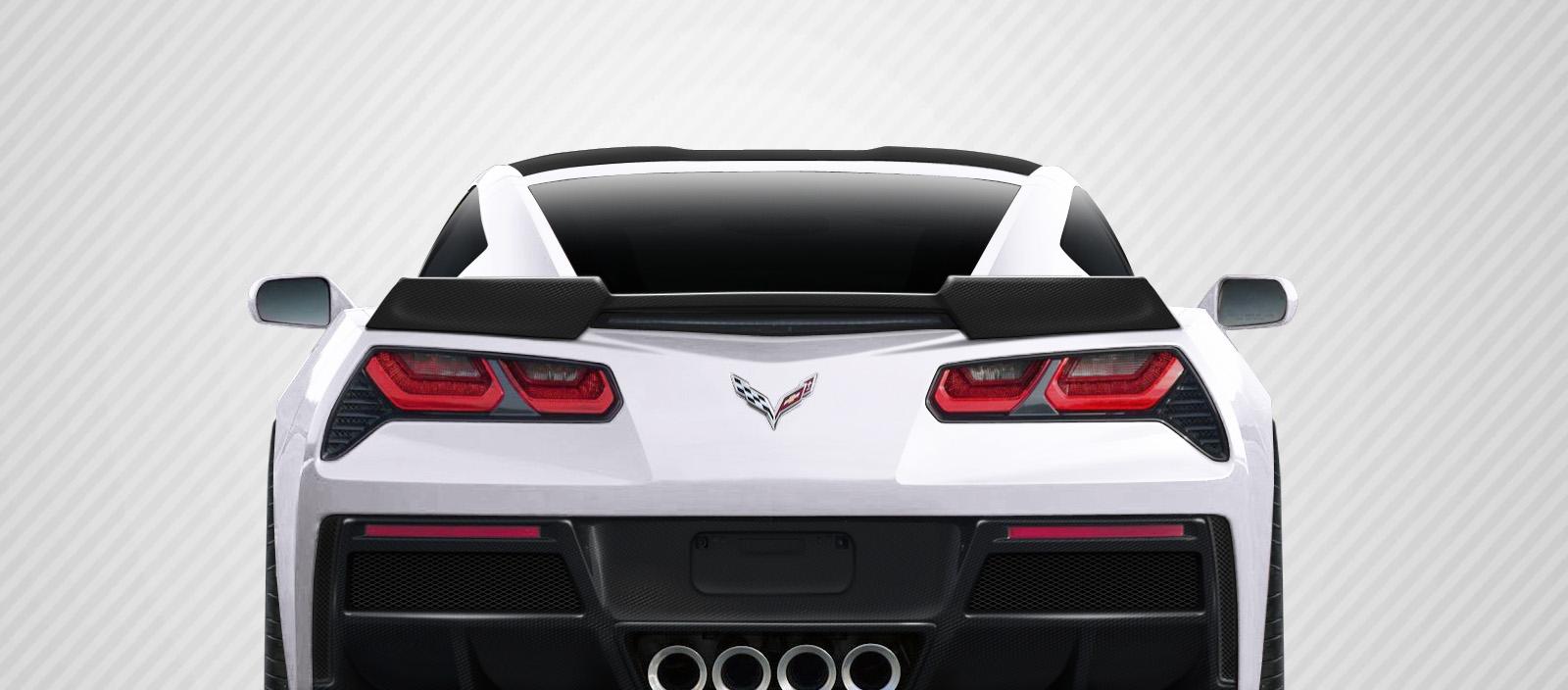 2016 Chevrolet Corvette ALL - Carbon Fiber Fibre Wing Spoiler Bodykit - Chevrolet Corvette C7 Carbon Creations Gran Veloce Wing- 1 Piece
