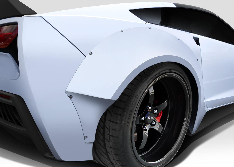 Chevrolet Camaro Bodykit >> 2014-2015 Chevy Corvette C7 Duraflex Gran Veloce Wide Rear Fender Flare Body Kit | eBay
