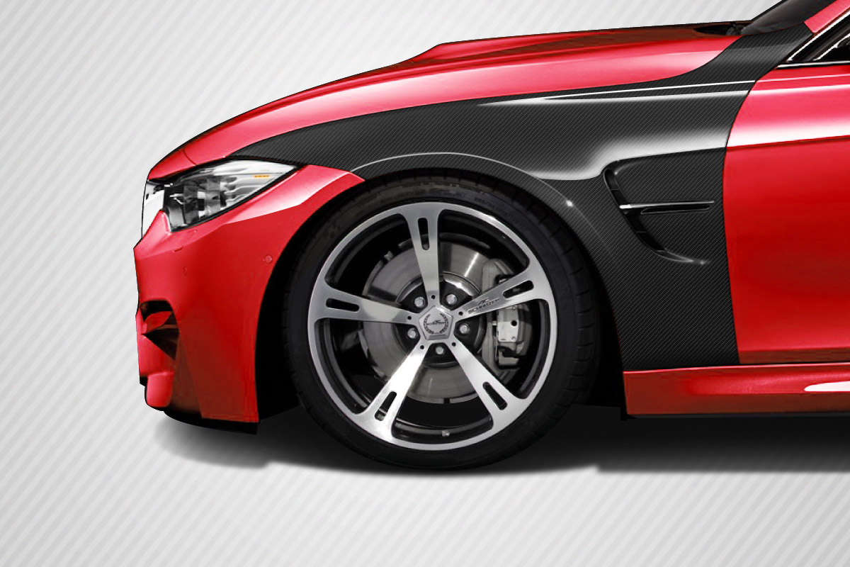 2016 BMW 3 Series 4DR Fender Bodykit - BMW 3 Series F30 Carbon Creations M3 Look Front Fenders - 4 Piece