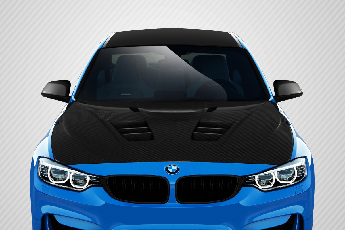 2016 BMW 3 Series 4DR Hood Bodykit - BMW 3 Series F30 / 2014-2016 4 Series F32 Carbon Creations Eros Version 1 Hood - 1 Piece