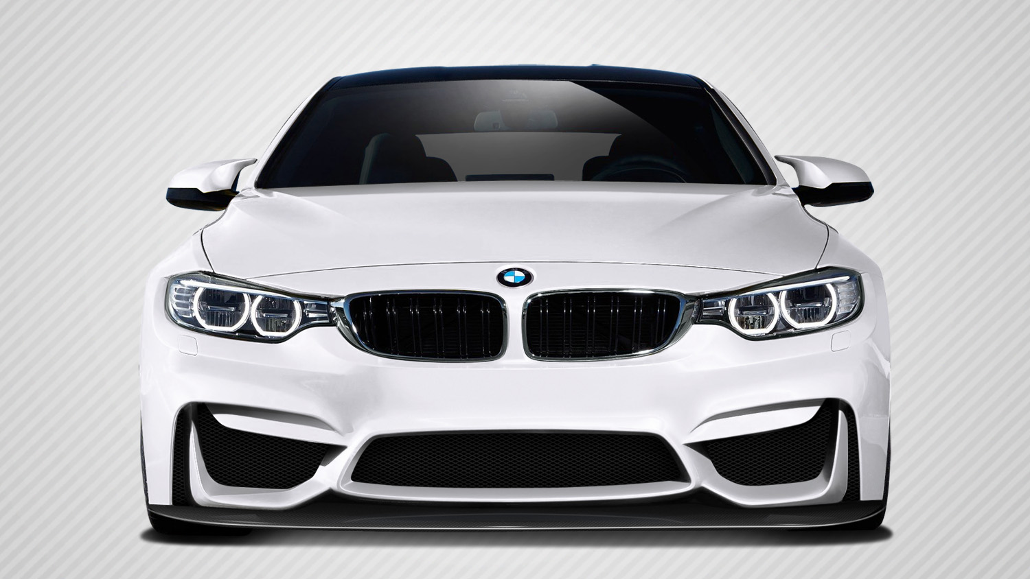 2016 BMW 4 Series ALL Front Bumper Bodykit - BMW 4 Series F32 Carbon Creations M4 Look Front Splitter ( must be used with M3 Look front bumper )