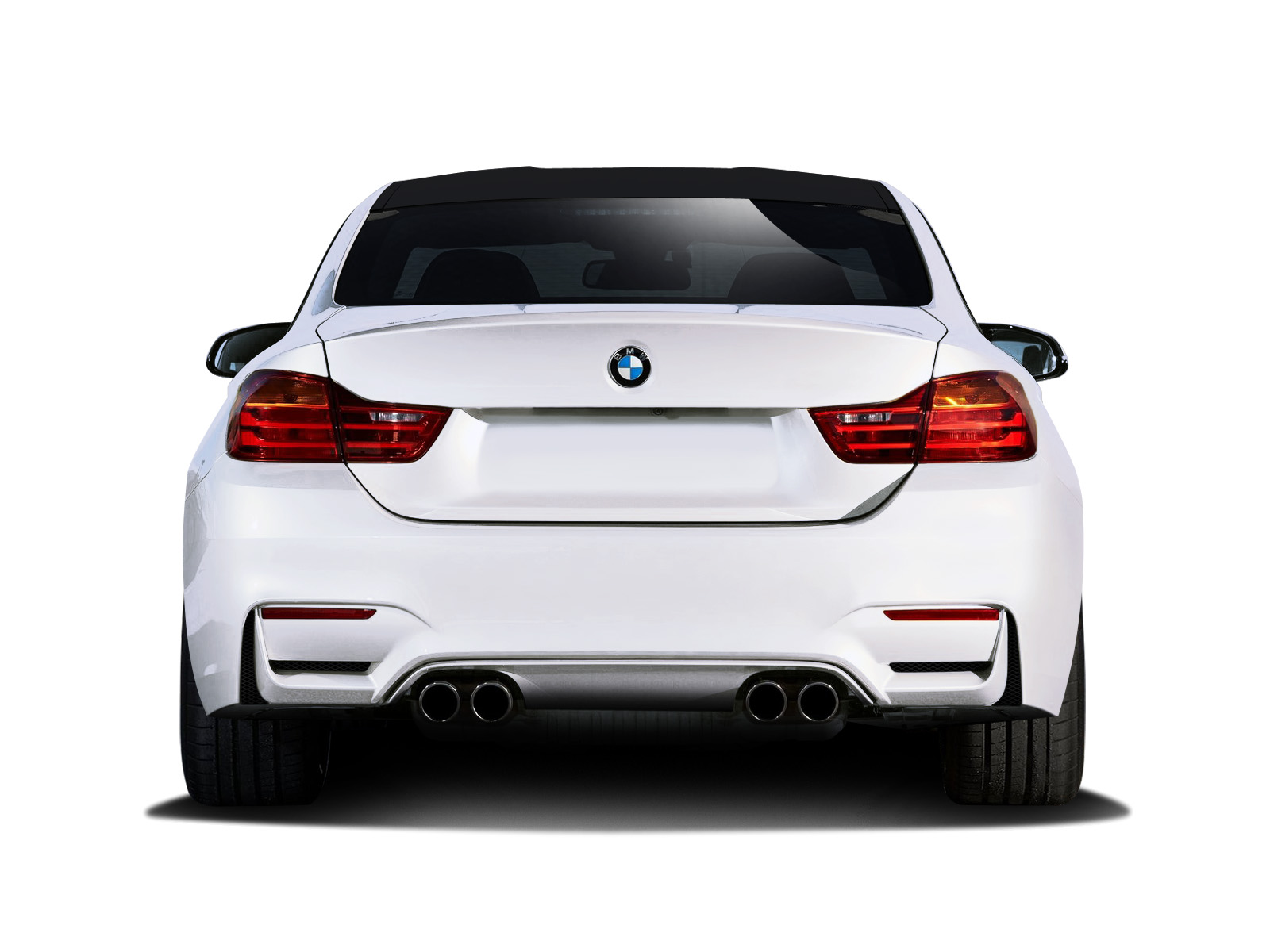2014 2016 BMW 4 Series F32 Couture Urethane M4 Look Rear Bumper Body Kit 6928366005054