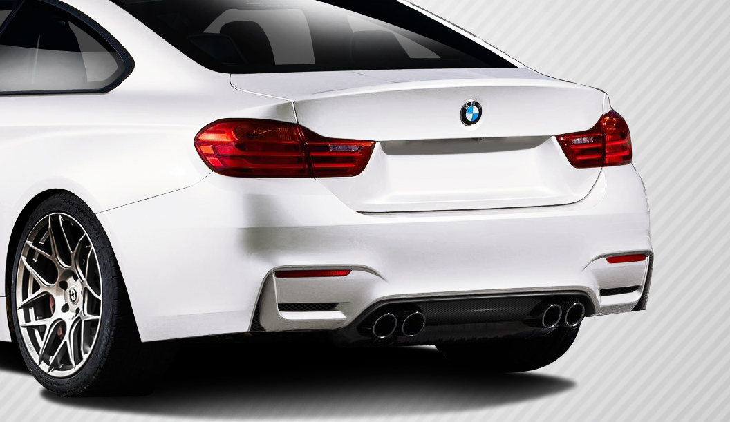 2016 BMW 4 Series ALL Rear Lip/Add On Bodykit - BMW 4 Series F32 Carbon Creations M4 Look Rear Diffuser ( must be used with M4 look rear bumper) -