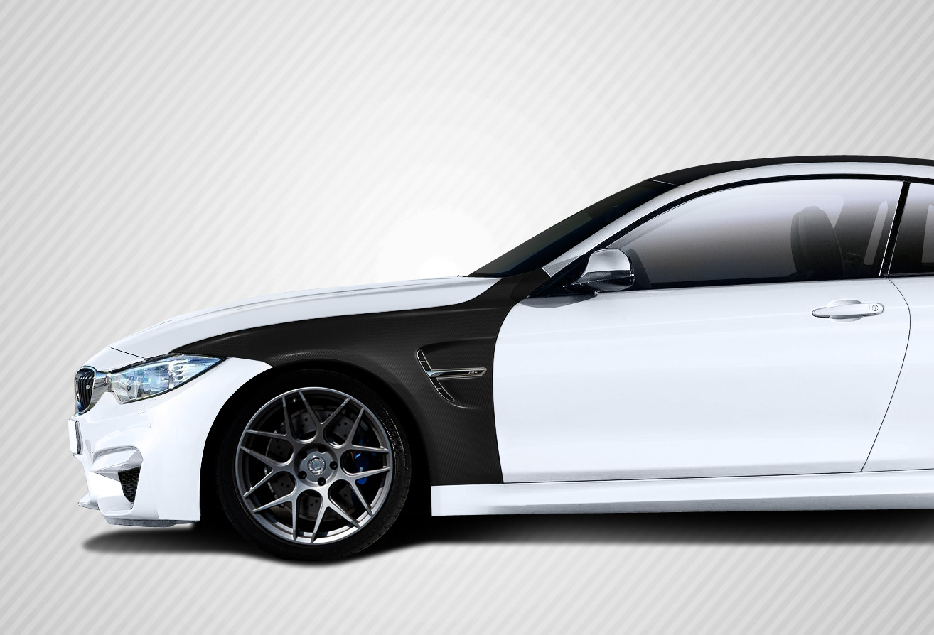 2016 BMW 4 Series ALL Fender Bodykit - BMW 4 Series F32 Carbon Creations M4 Look Front Fenders -  4 Piece