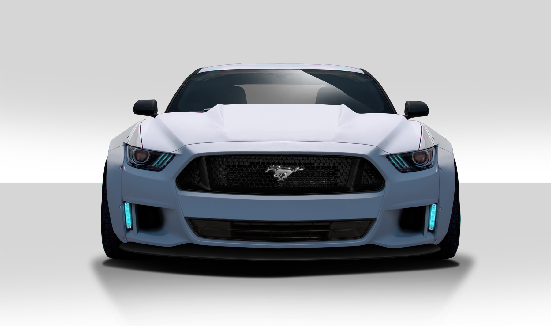 2015 2016 Ford Mustang Duraflex Grid Front Bumper Cover