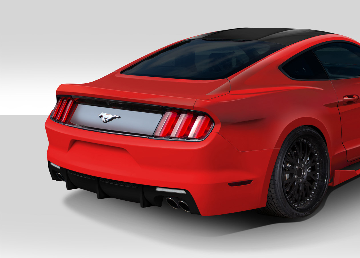 Welcome to extreme dimensions inventory item 2015 2017 ford mustang duraflex grid rear bumper cover 1 piece