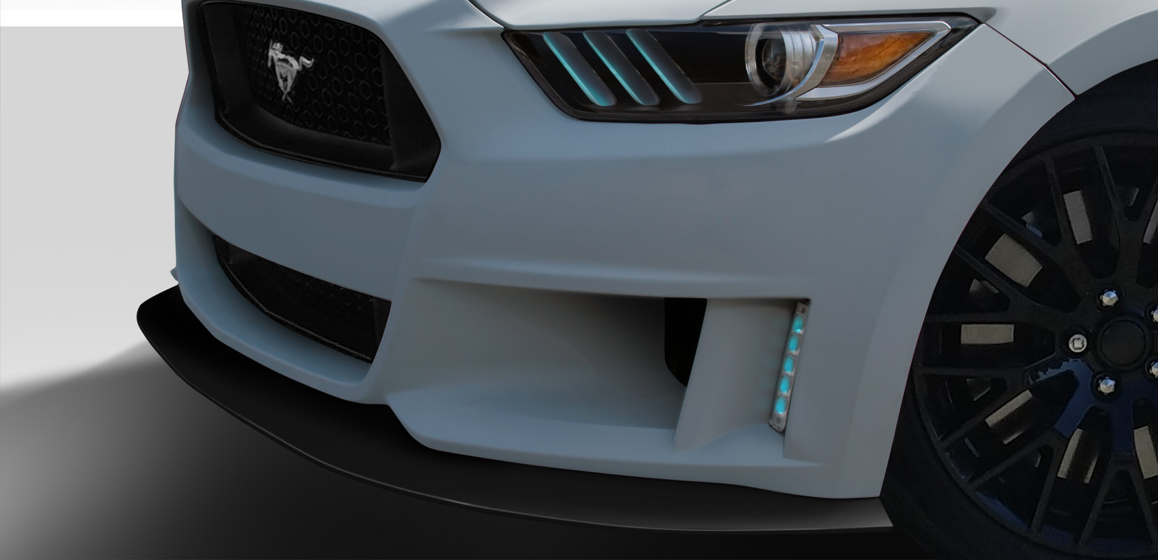 2015-2017 Ford Mustang Duraflex Performance Look Front Lip Spoiler