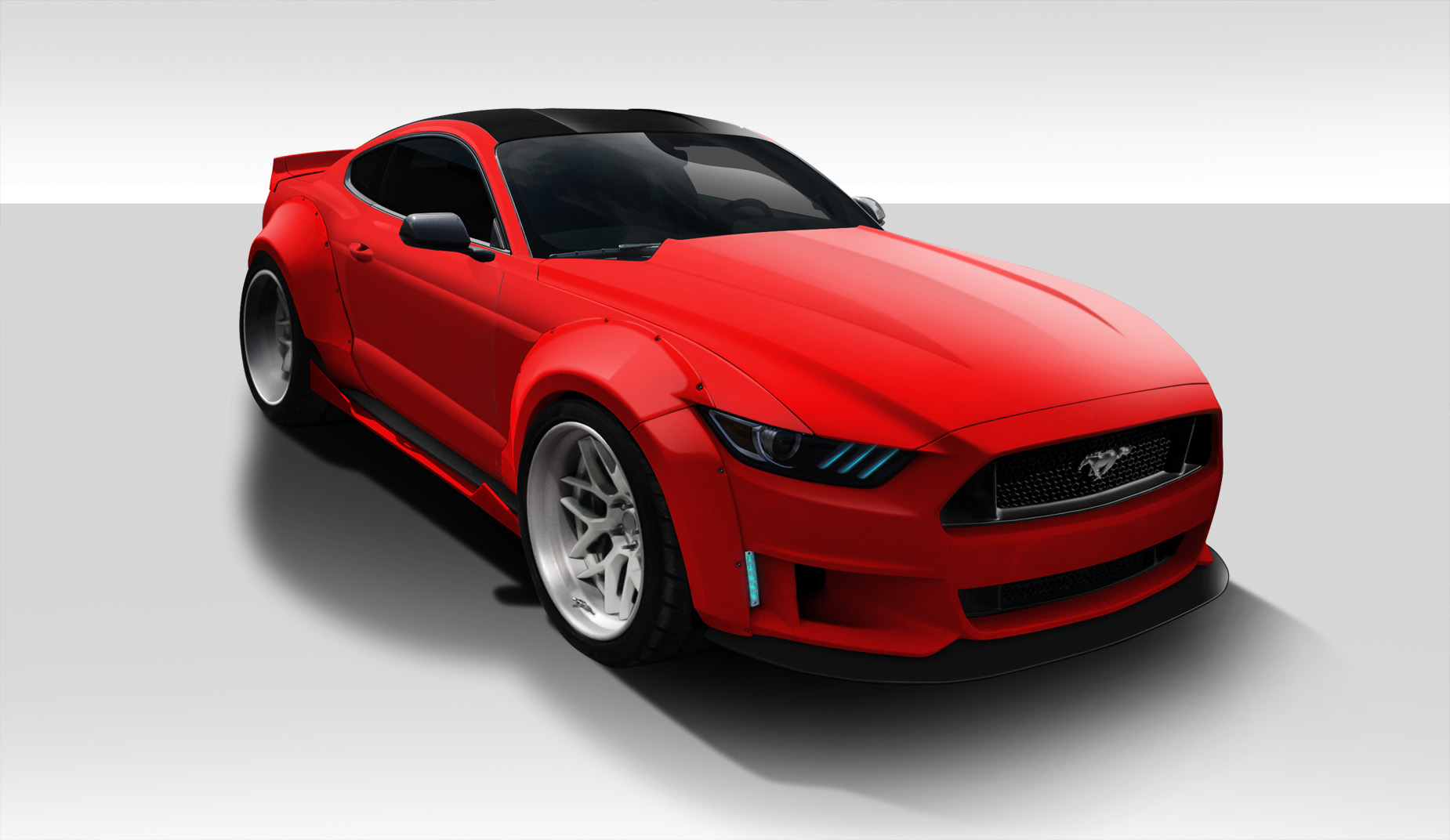new duraflex kit 15 16 ford mustang grid wide body kit available soon forums at modded mustangs. Black Bedroom Furniture Sets. Home Design Ideas