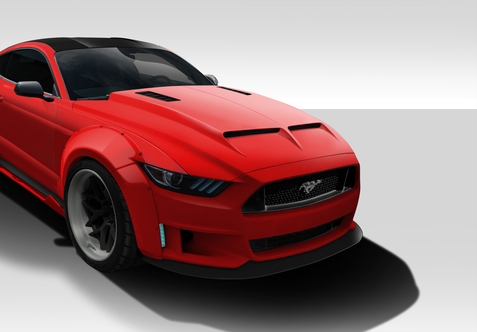 Details about 15 17 ford mustang gt500 duraflex body kit hood 112578
