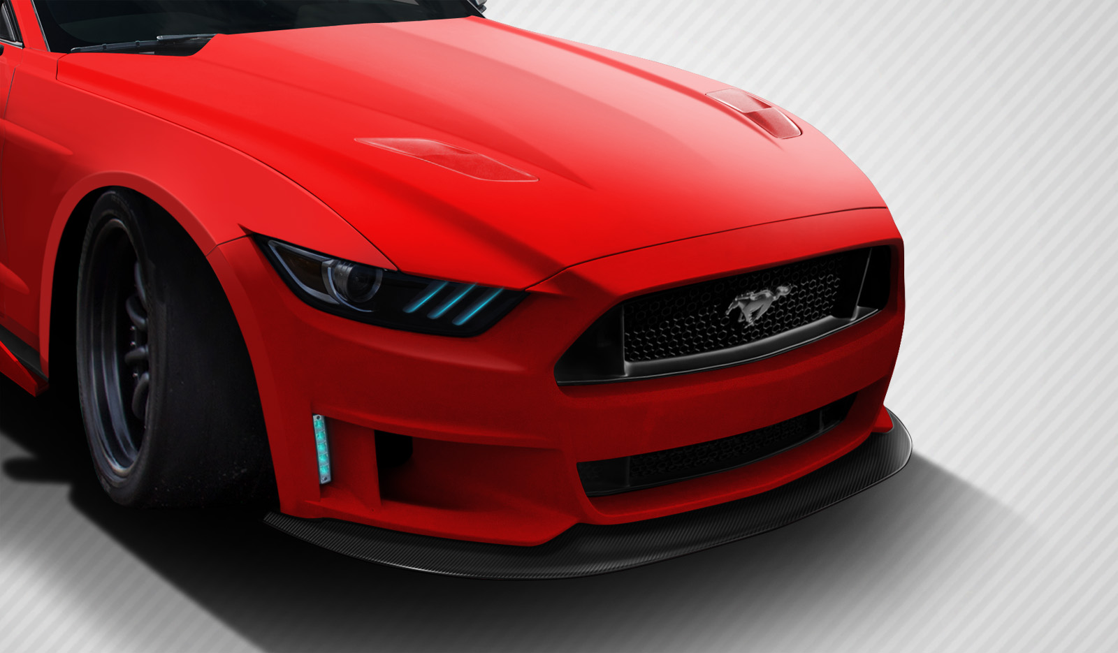 2015-2017 Ford Mustang Carbon Creations Grid Front Lip Spoiler