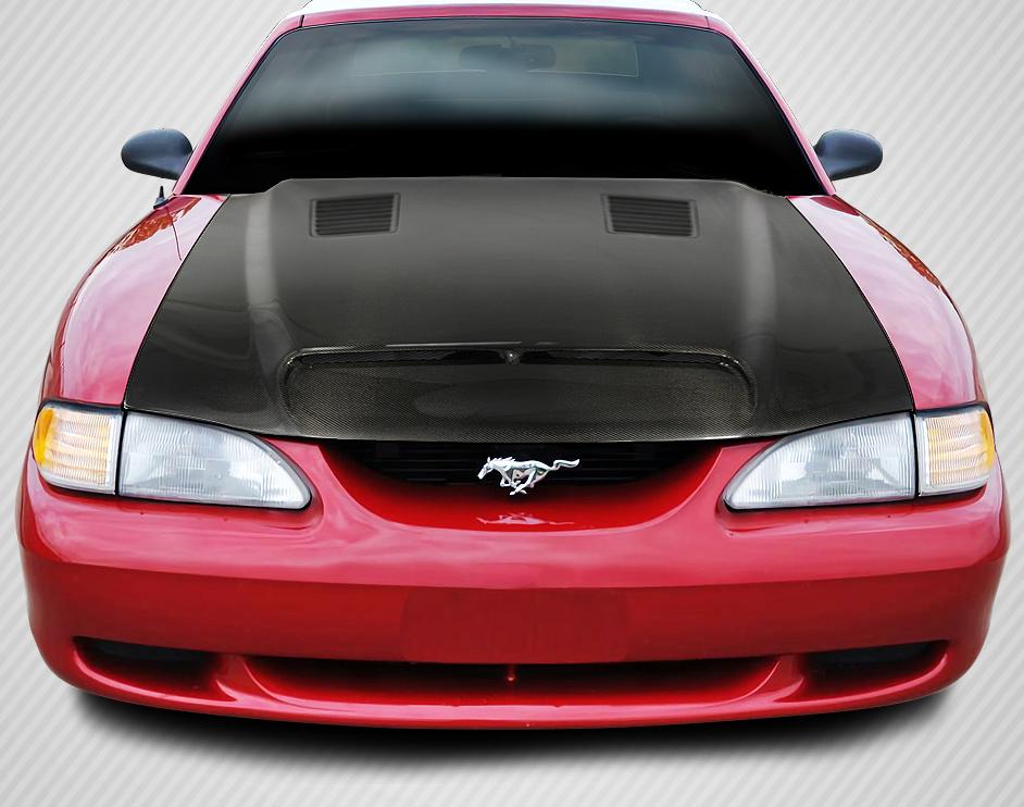 Gt500 Carbon Fiber Hood >> 94-98 Ford Mustang GT500 DriTech Carbon Fiber Body Kit- Hood!!! 112939 | eBay