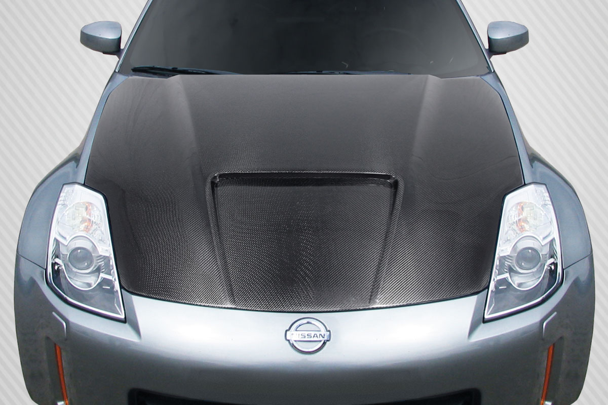 03 06 Fit Nissan 350z Track Dritech Carbon Fiber Creations Body Kit Hood 112962