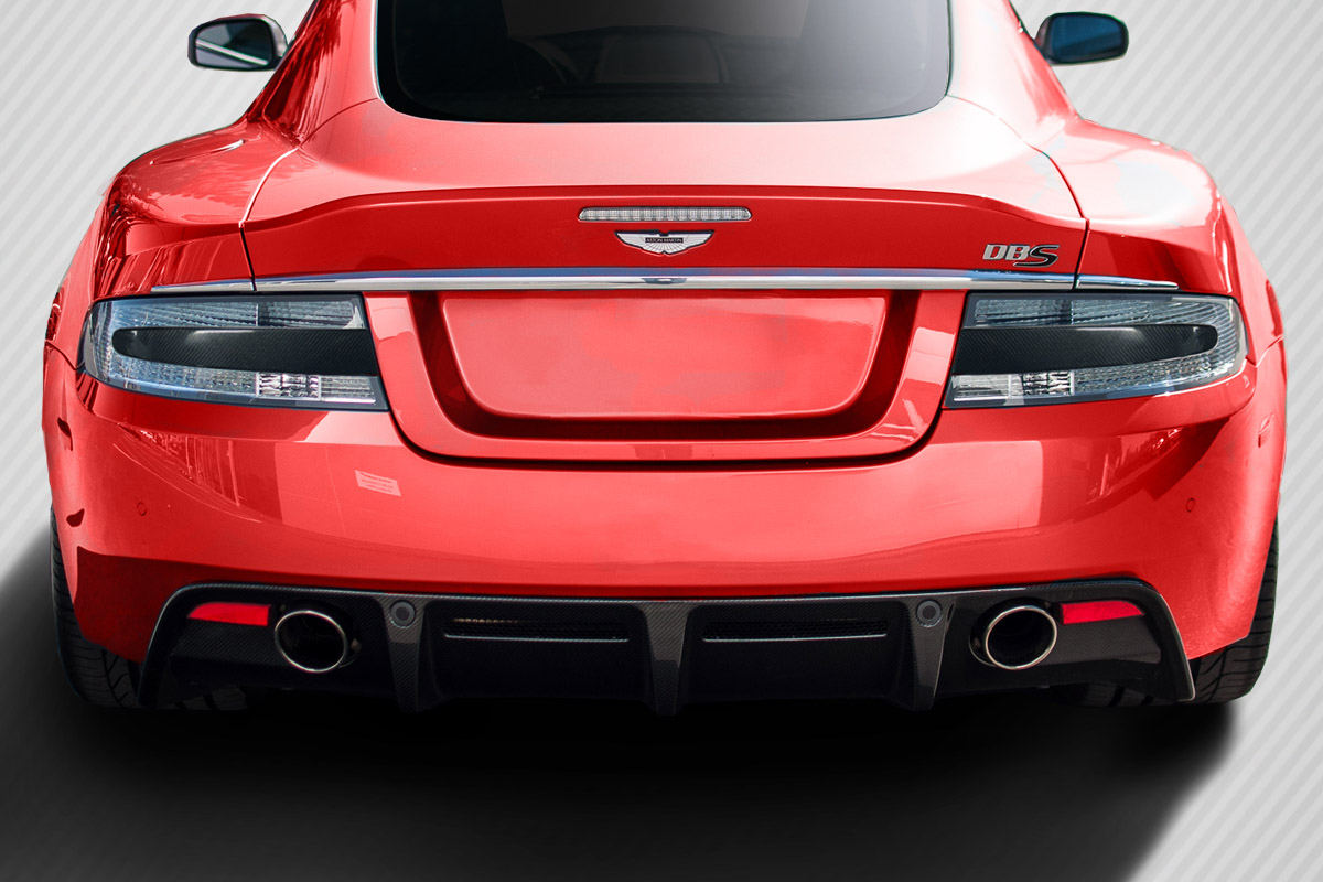 06 15 Aston Martin Vantage Dritech Carbon Fiber Tail Light Inserts