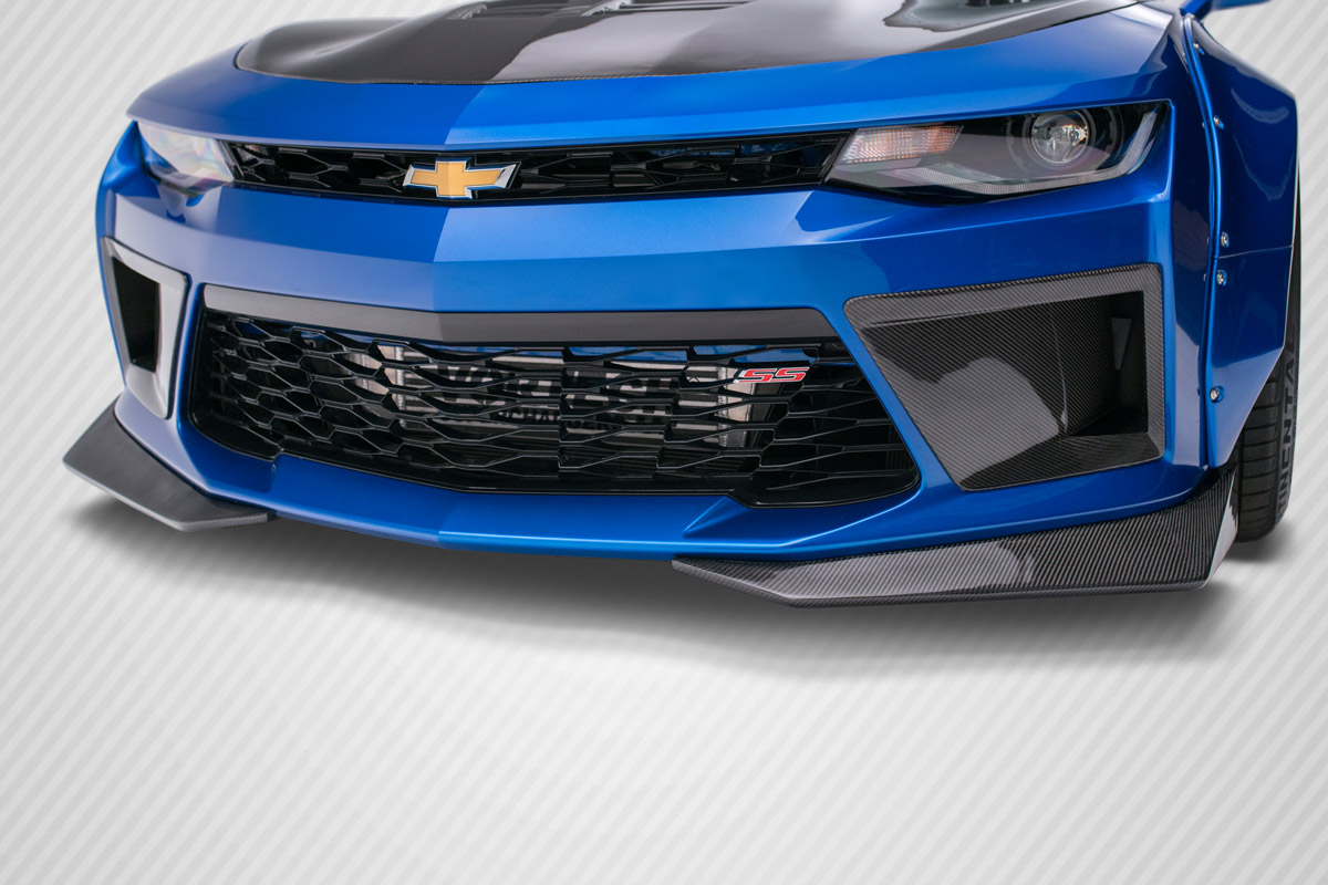 2016-2018 Chevy Camaro Carbon Creations DriTech Grid Front Splitters - 2 Piece