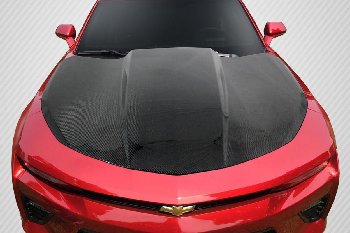 Chevrolet Camaro Bodykit >> Carbon Fiber Hood Body Kit for 2016 Chevrolet Camaro - 2016-2018 Chevrolet Camaro Carbon ...