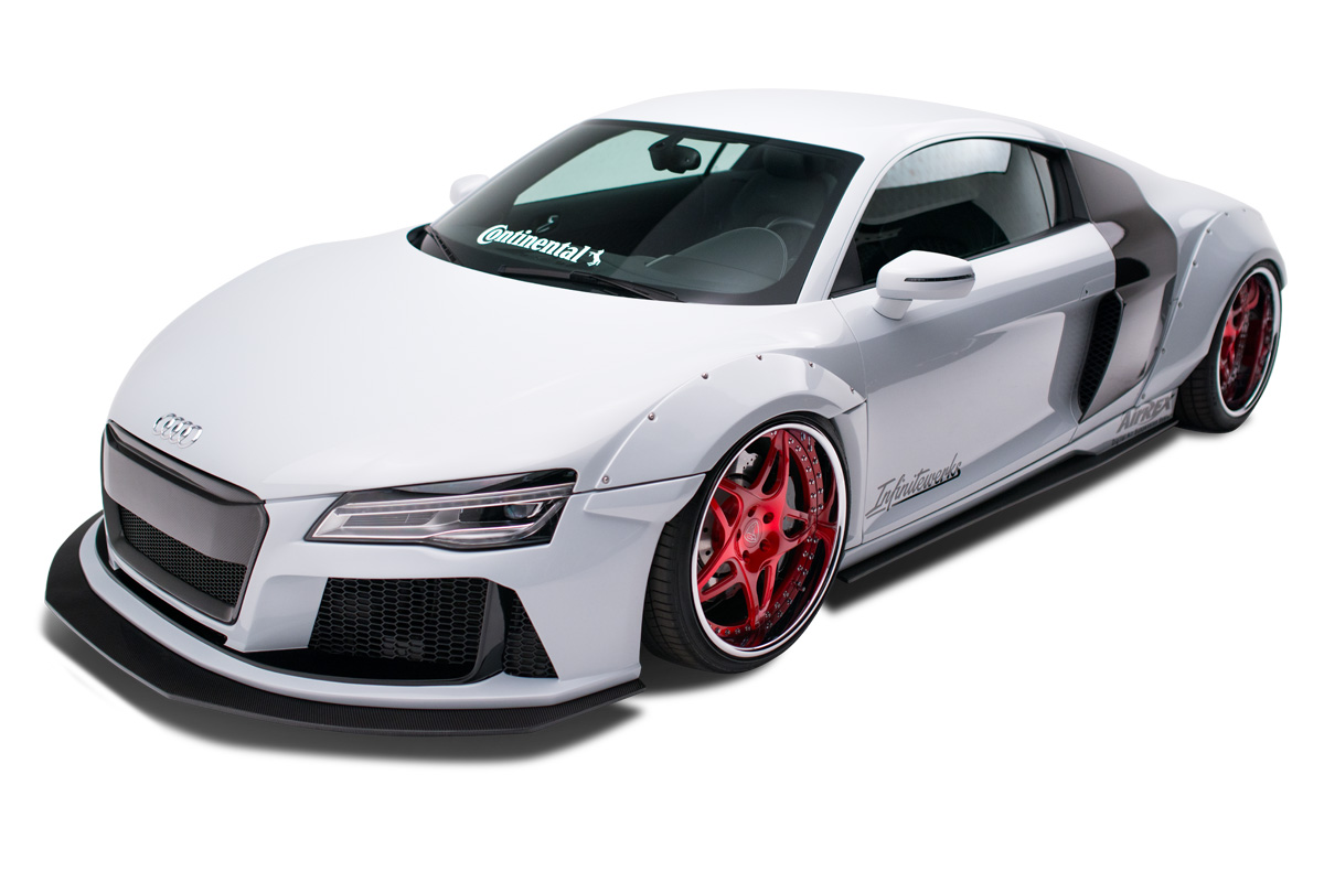 2008-2015 Audi R8 AF Signature Series Wide Body Kit ( GFK ) - 8 Piece