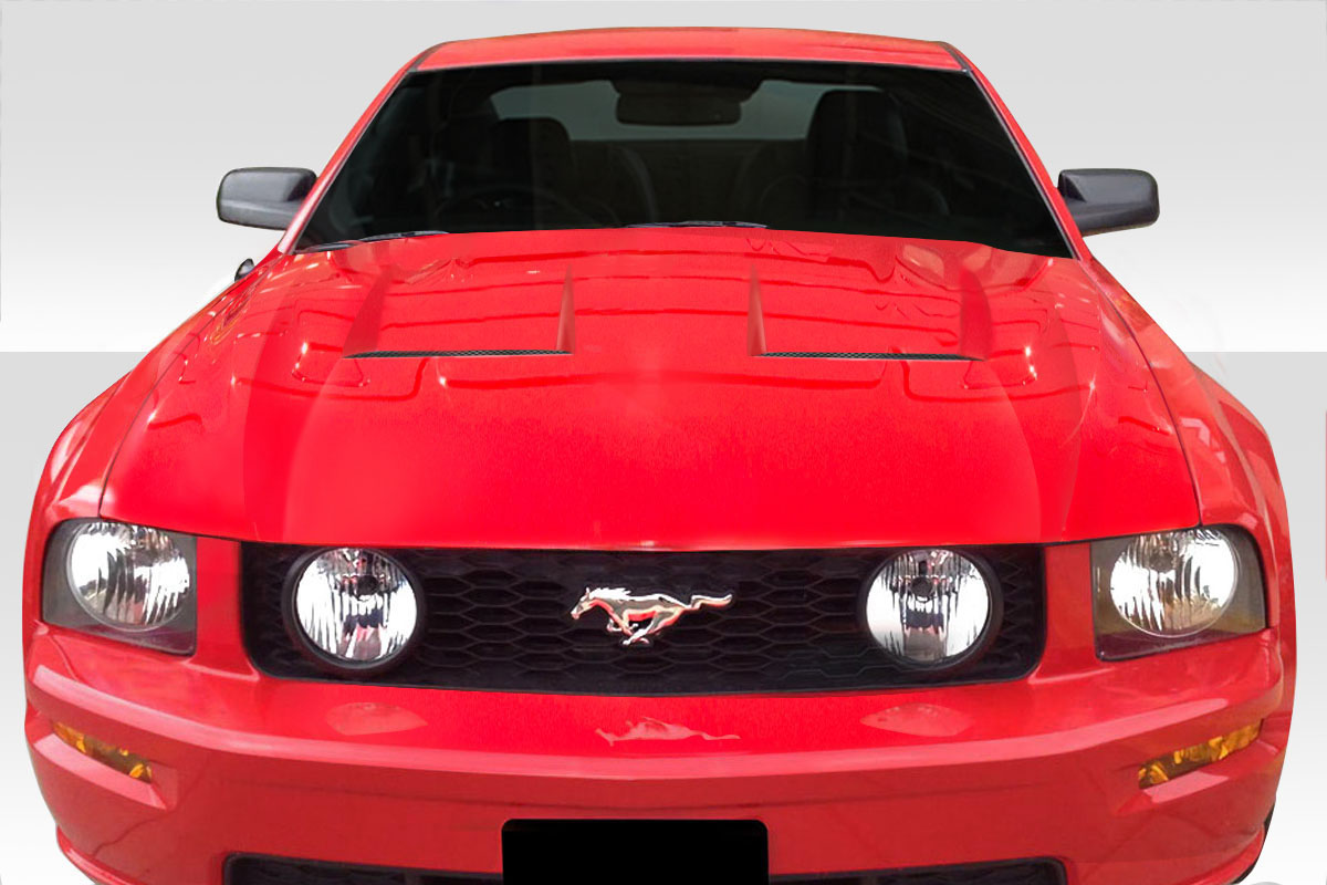 2007 ford mustang hood body kit 2005 2009 ford mustang. Black Bedroom Furniture Sets. Home Design Ideas