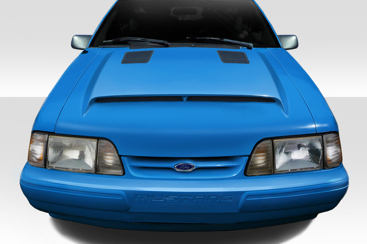 welcome to extreme dimensions inventory item 1987 1993 ford mustang duraflex gt500 hood. Black Bedroom Furniture Sets. Home Design Ideas