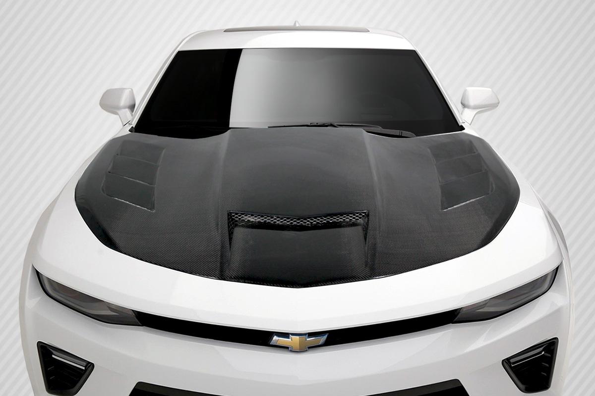 hood body kit for 2017 chevrolet camaro 2016 2018 chevrolet camaro carbon creations ts 1 hood. Black Bedroom Furniture Sets. Home Design Ideas