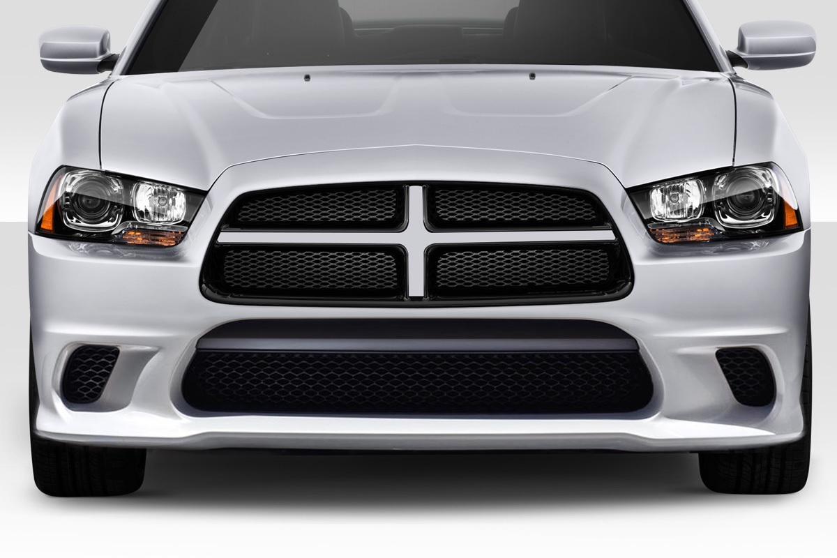 2014 Dodge Charger 0 Front Bumper Body Kit 2011 2014 Dodge Charger Duraflex Hellcat Look Front Bumper 1 Piece Xsv Custom Auto
