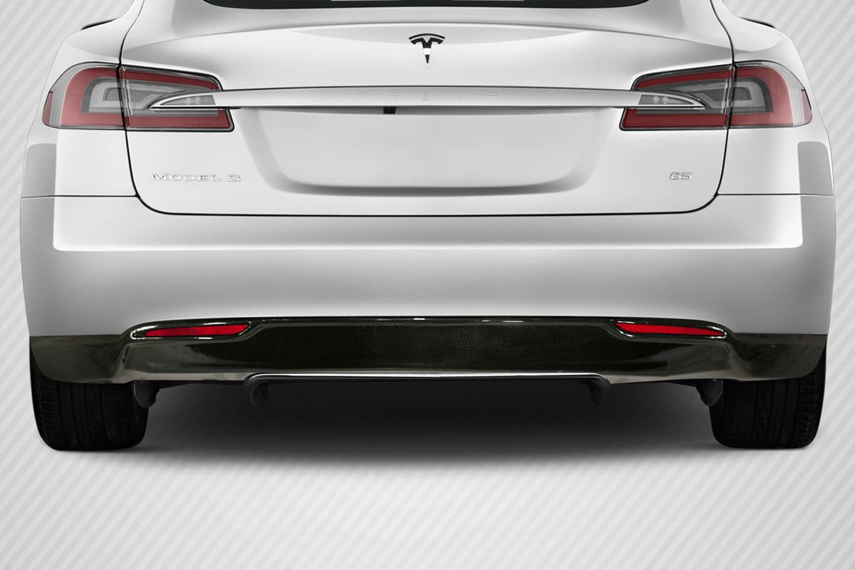 2013 Tesla Model S 0 Carbon Fiber Rear Lip Add On Body Kit