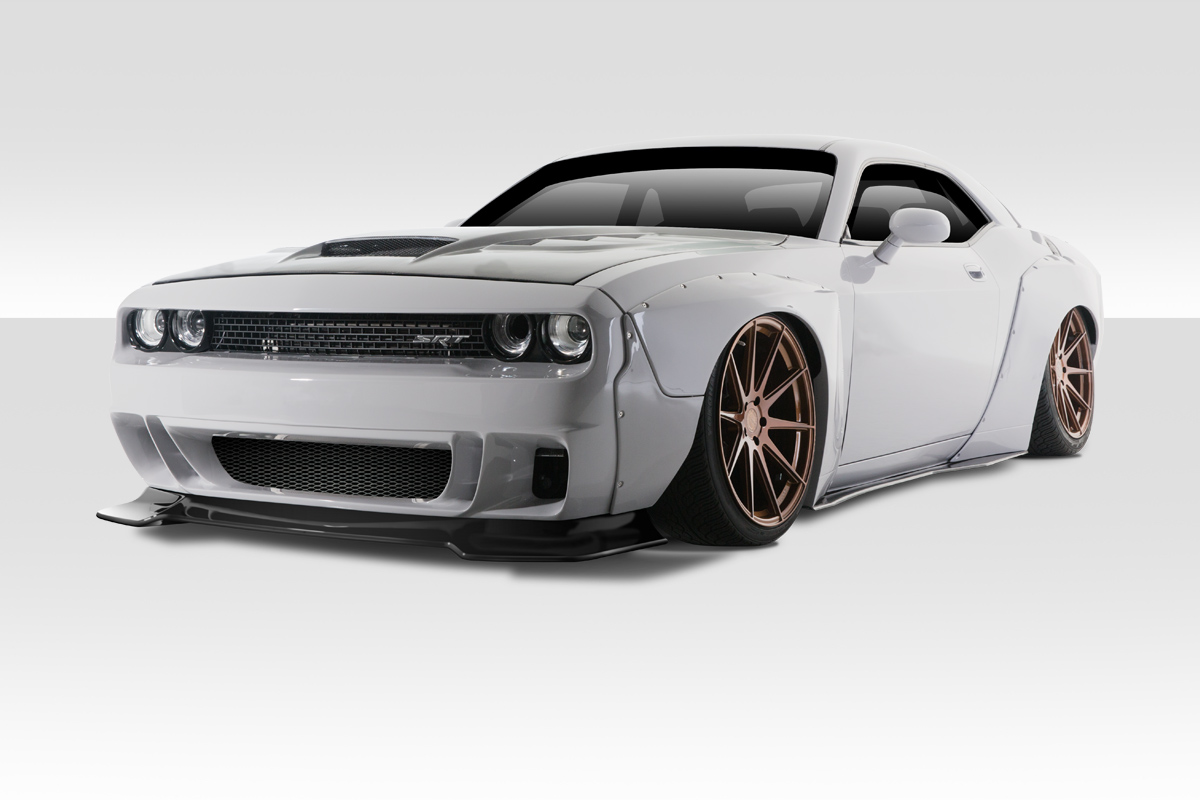 Fiberglass+ Kit Body Kit for 2018 Dodge Challenger 0 - 2015-2019 Dodge  Challenger Duraflex Circuit Wide Body Kit - 15 Pieces - Includes Circuit  Front