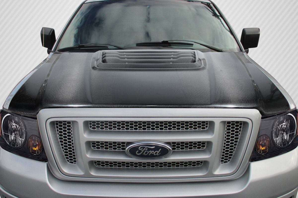 hood ford 150 raptor carbon 2004 2008 f150 creations hoods fiber piece scoops dimensions extreme