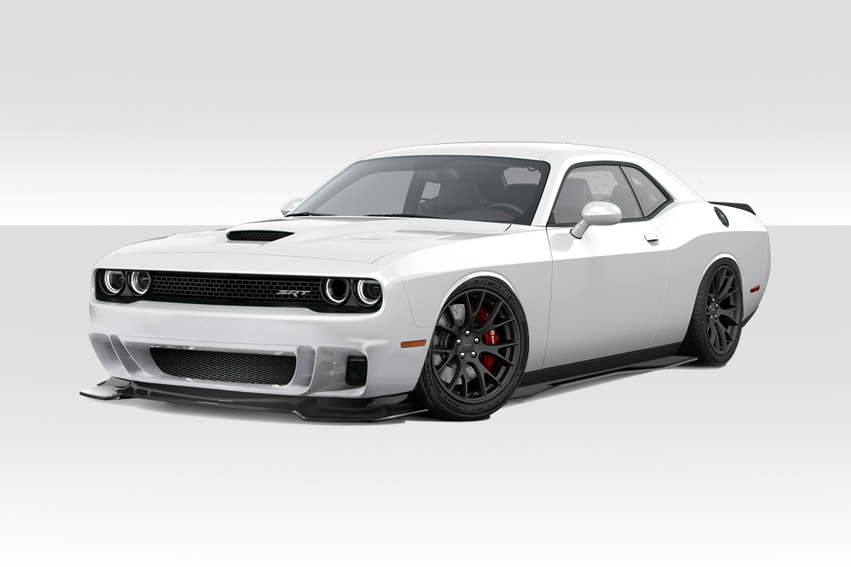 2015-2019 Dodge Challenger Duraflex Circuit Body Kit - 7 Pieces - Includes  Circuit Front Bumper (113891) Circuit Front Lip (113892) Circuit Side