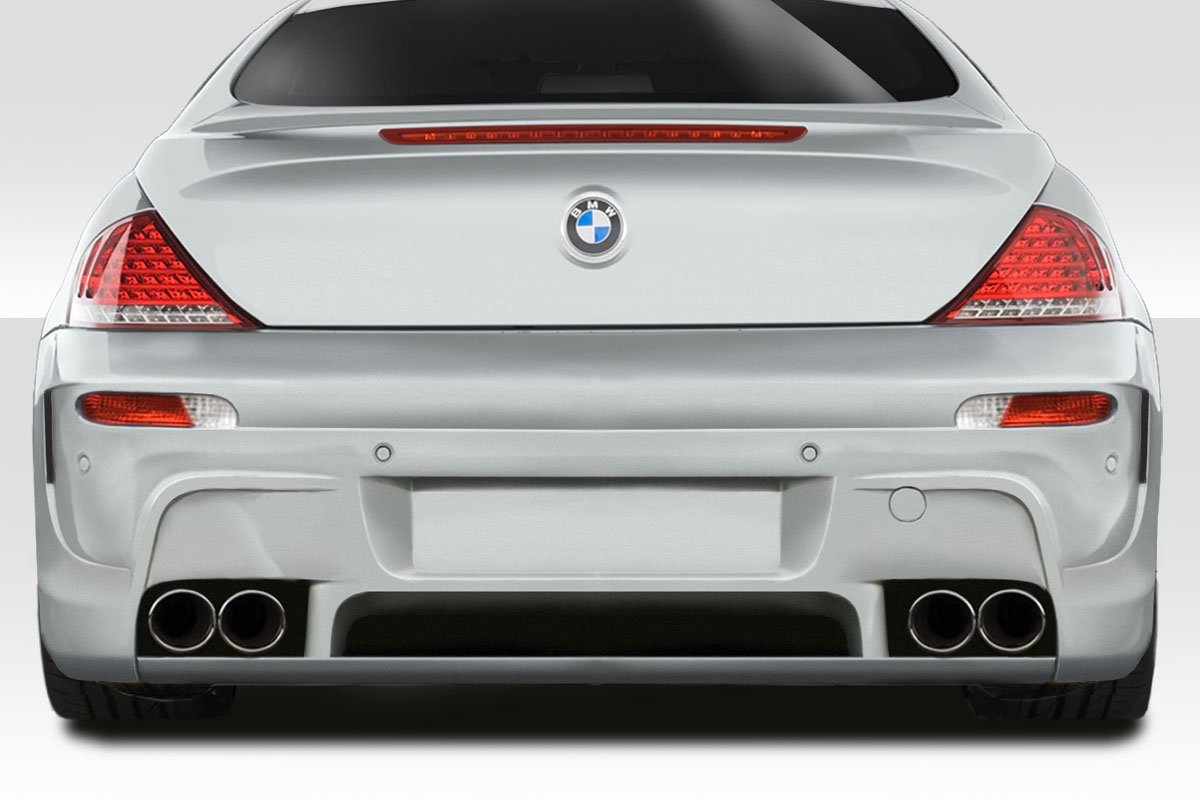 2006 BMW 6 Series 0 Rear Bumper Body Kit - 2004-2010 BMW 6 Series E63 E64 Convertible 2DR Duraflex LMS Rear Bumper Cover - 1 Piece