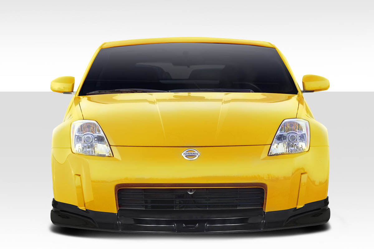 2004 Nissan 350Z 0 Front Lip-Add On Body Kit - 2003-2008 Nissan 350Z Z33 Duraflex C-1 Front Lip Under Spoiler Air Dam - 1 Piece