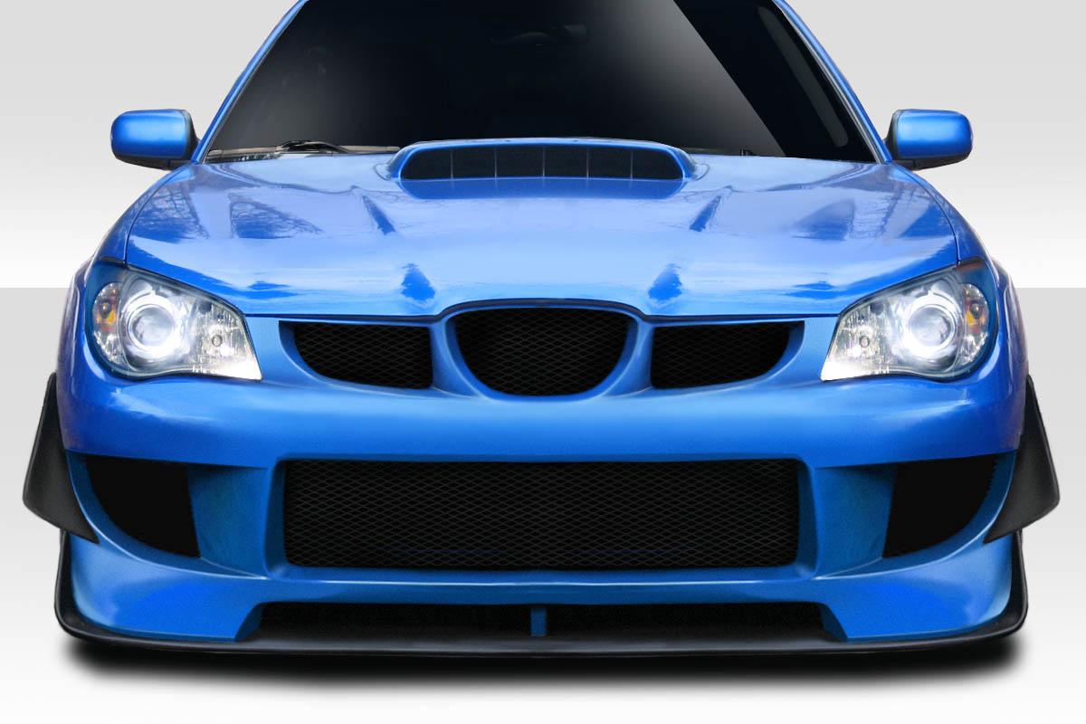 2006 Subaru Impreza 0 Front Bumper Body Kit - 2006-2007 Subaru Impreza WRX STI 4DR Duraflex M-1 Sport Front Bumper Cover - 4 Piece ( Includes Canards)