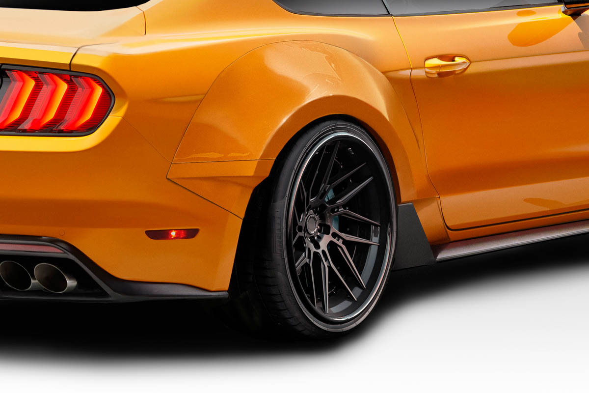 2016 Ford Mustang 0 Fender Flare Body Kit - 2015-2019 Ford Mustang Couture Grid Wide Body Rear Fender Flares - 4 piece