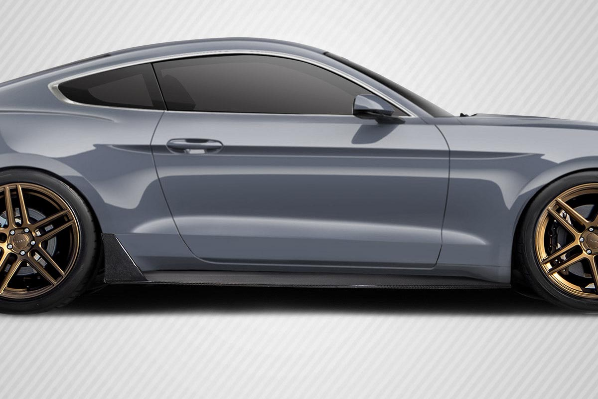 2015-2019 Ford Mustang Carbon Creations Grid V2 Side Skirts Rocker Panels - 2 Piece