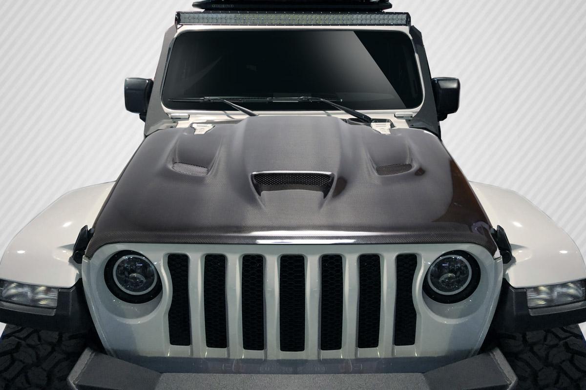 2019 Jeep Wrangler 0 Hood Body Kit - 2019-2019 Jeep Wrangler Carbon Creations Hellcat Look Hood - 1 piece