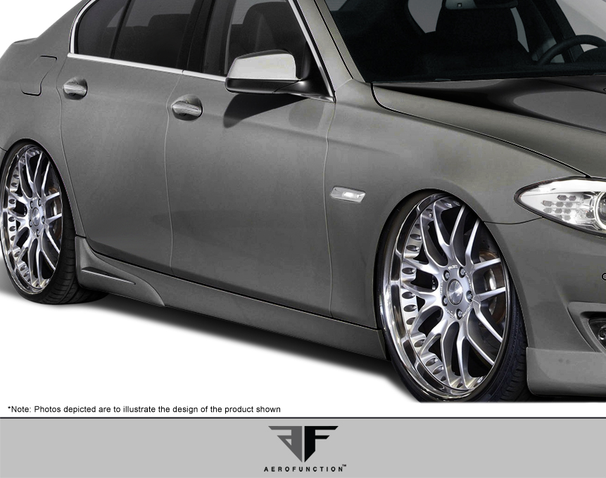 2016 BMW 5 Series 4DR - Polyurethane Sideskirts Bodykit - BMW 5 Series F10 4DR AF-1 Side Skirt Add-Ons ( PUR-RIM ) - 2 Piece